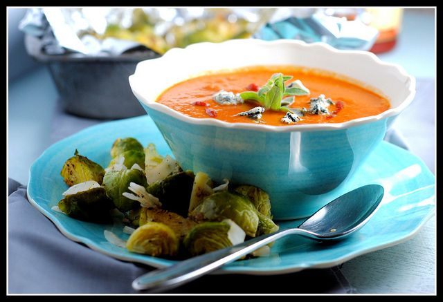 spicy tomato blue cheese soup1 by preventionrd, via Flickr minus whole ...