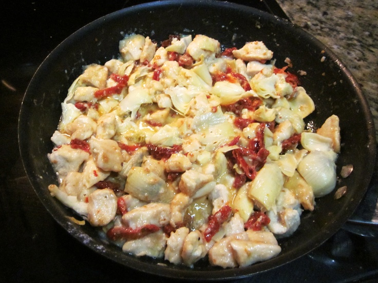 Sun-Dried Tomato & Artichoke Chicken!