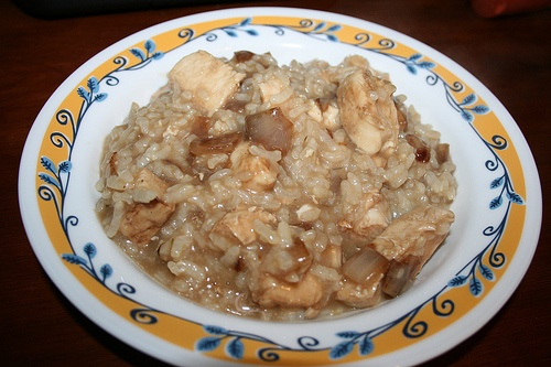 Roasted Chicken and Caramelized Onion Risotto