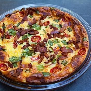 Cheesy Crustless Quiche Recipe - ZipList | food | Pinterest