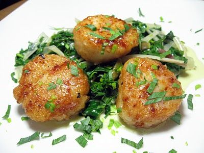 Seared Scallops with Creamy Spring Ramps | Bon Appetit!: Spring into ...
