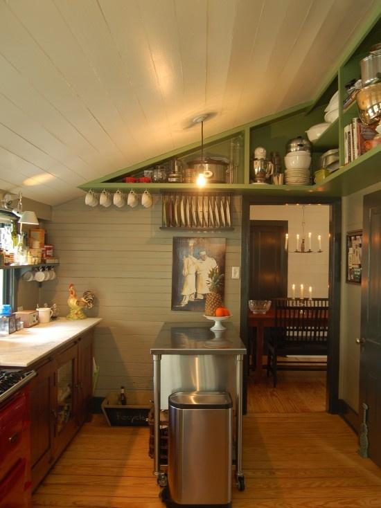 Slanted Ceiling In Kitchen Organization Tips Pinterest