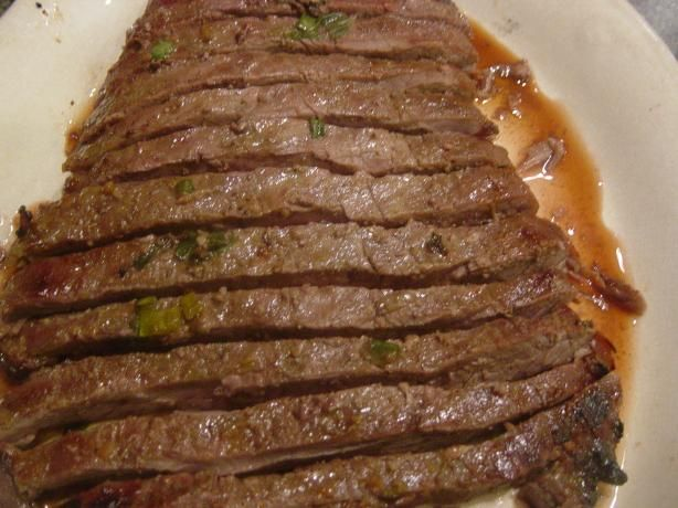 Grilled Flank Steak with honey, soy and ginger marinade. Great taste ...
