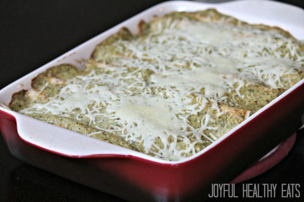 Baked Chicken With Roasted Tomatillo Cream Sauce Recipe — Dishmaps