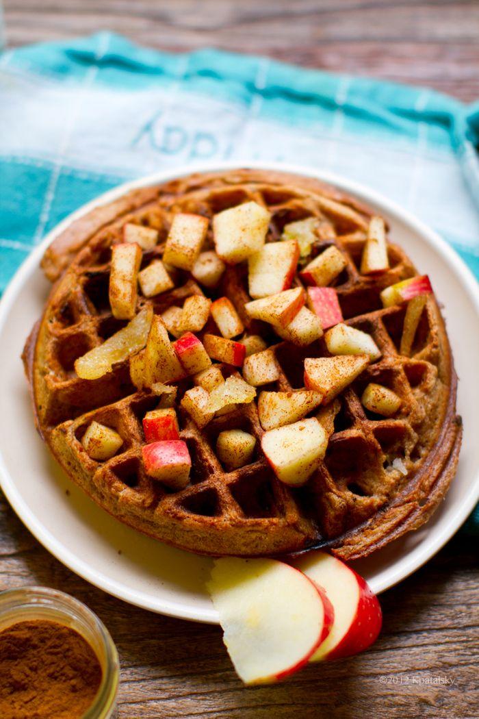 Vegan Waffle Recipes: (1) Apple Cinnamon Ginger Waffles, (2) Pumpkin ...
