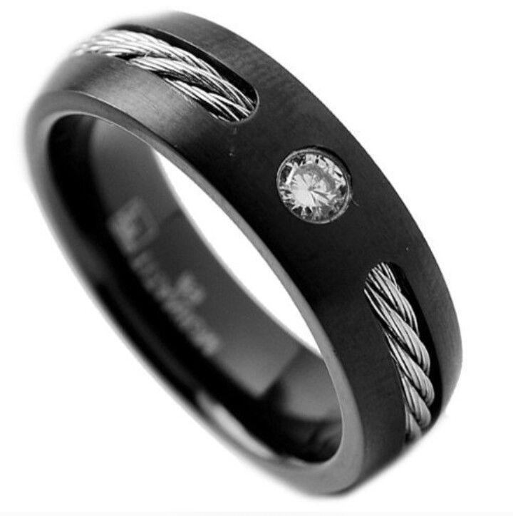 Black Wedding Rings For Him Black Wedding Band For Him For Him Pinterest