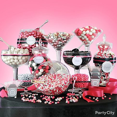 Baby shower decorations in red black and white | 10 Sweet Ideas for a Fabulous Candy Buffet - Party City