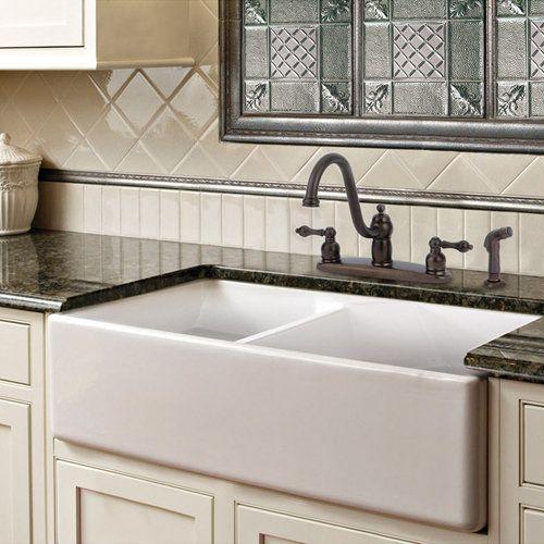 farmhouse sink with interesting backsplash for the home pinterest