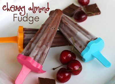 Cherry Almond Fudge Pudding Pops | Recipes, Food & Drink | Pinterest
