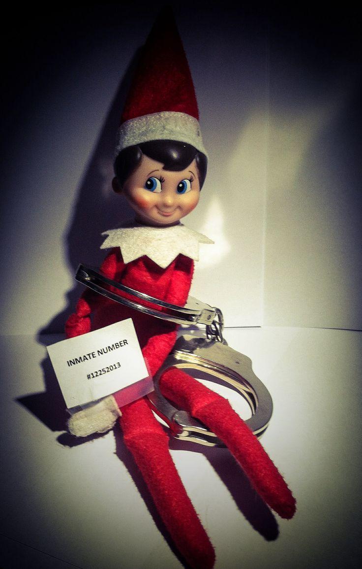 Elf gone wild. | Our Elf on a Shelf. | Pinterest