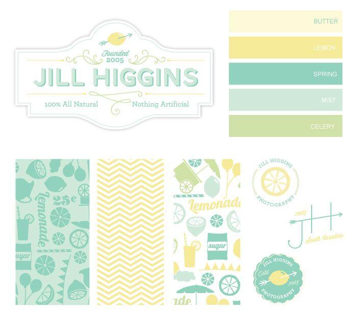 sweet soft tones   Jill Higgins Branding by Braizen