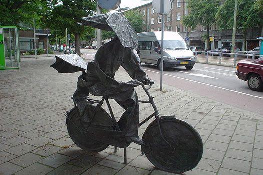 Kokshorn : Ode aan de fiets (1989) by Frans Kokshoorn, The Hague, #Netherlands