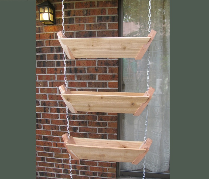 3 tiered hanging patio planter balcony pinterest for Balcony hanging planter