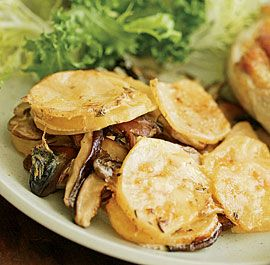 Mushroom & Potato Gratin | Healthy RECIPES To Try | Pinterest