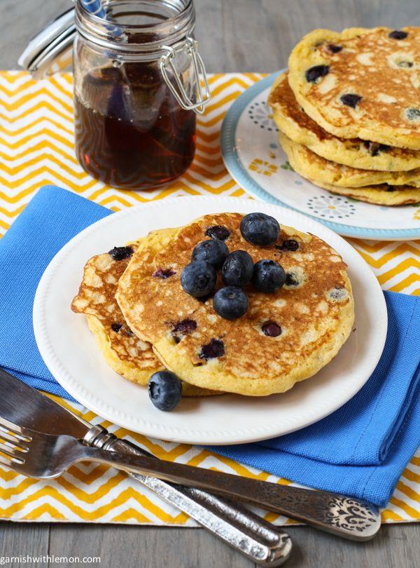 Blueberry Cornmeal Pancakes | Recipe