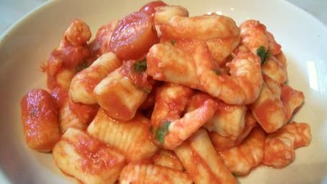 ... light gnocchi with langoustines and a delicious homemade tomato sauce