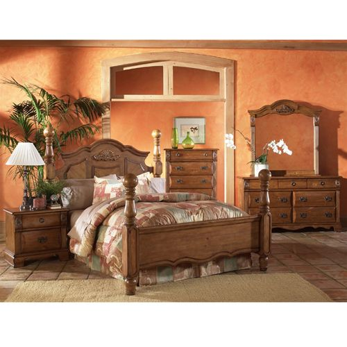 traditional style bedroom furniture set from woodhaven aaron s