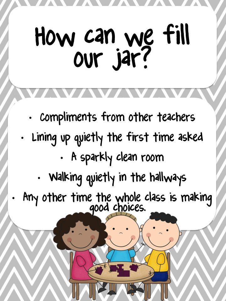 Classroom Marble Jar Ideas : Marble jar whole class reward system behavior