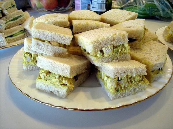 Coronation Chicken sandwiches   On My Table   Pinterest