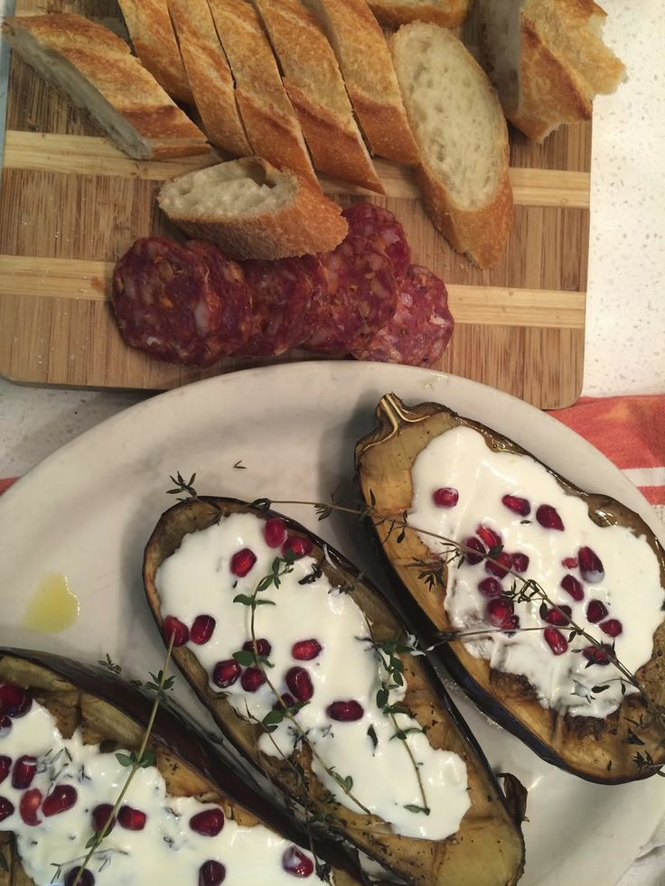 ... roasted eggplant with buttermilk sauce. the shingled house