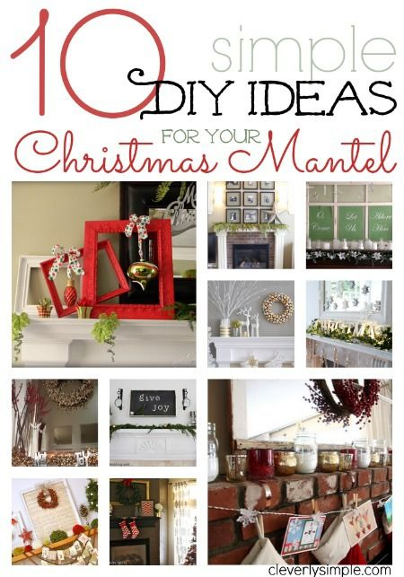 Simple DIY ideas for your Christmas Mantel. #diy #christmas