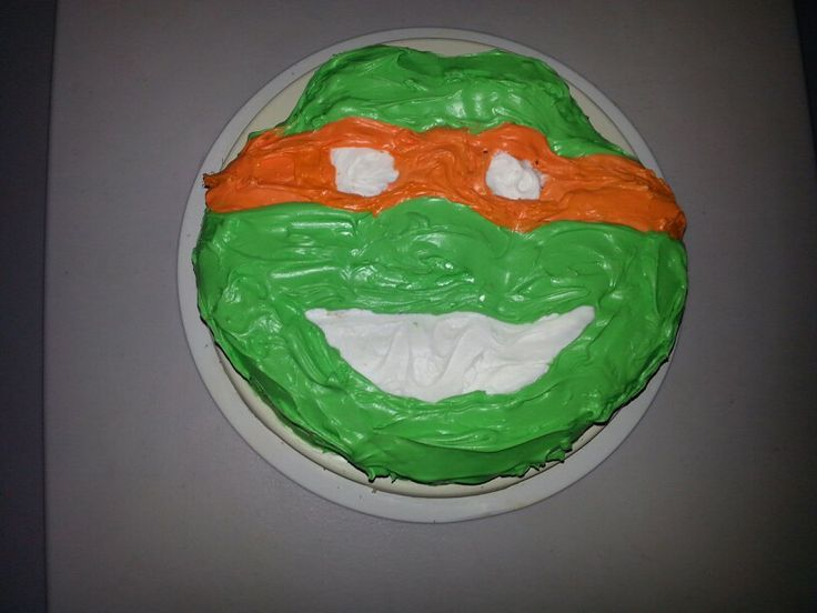 Ninja turtle cake | Creative homemade cakes | Pinterest