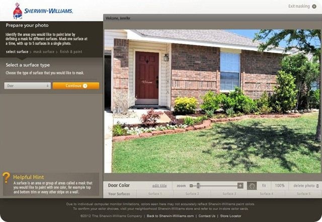 Sherwin williams color visualizer for the home pinterest for Room visualizer