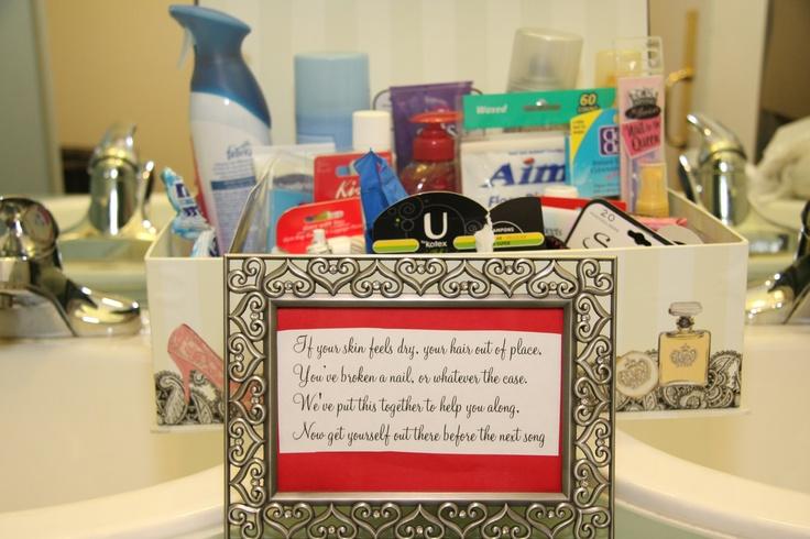 Bathroom Baskets Reception Celebration Pinterest