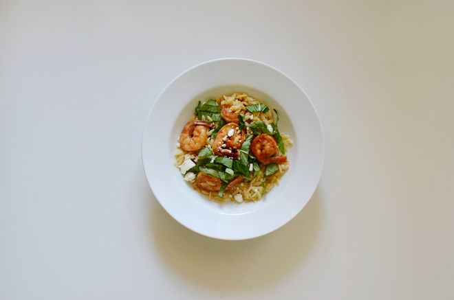 orzo with feta, basil and shrimp | Food | Pinterest