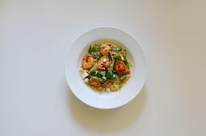 orzo with feta, basil and shrimp | Food | Pinterest