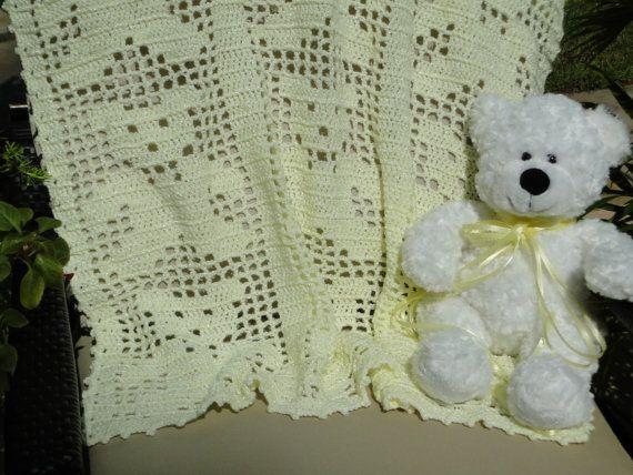 Free Teddy Bear Filet Crochet Afghan Pattern : Filet Crochet Teddy Bear Graph submited images.