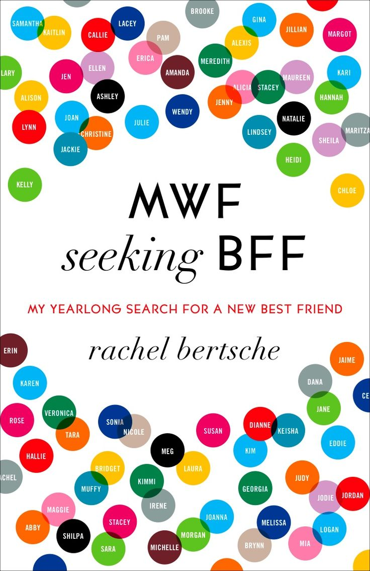 Currently reading this.  For anyone that has moved away from their current BFF or someone that is simply seeking new friendships, this book is so funny and she really says what we all feel.