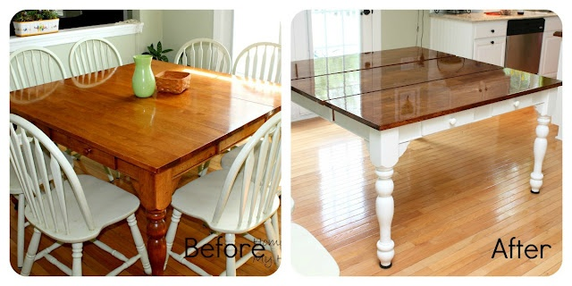 Kitchen table redo for the home pinterest - Kitchen table redo ...