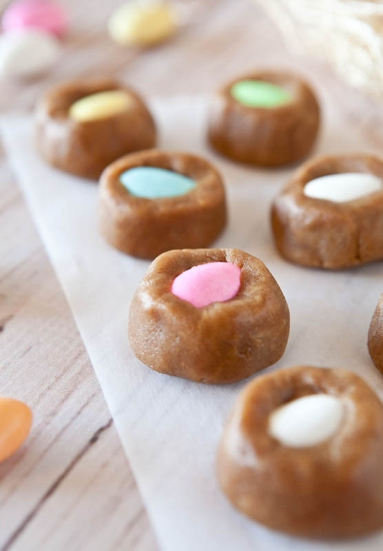 Egg-In-a-Nest stuffed Peanut Butter Cookie Dough Bites Perfect for ...