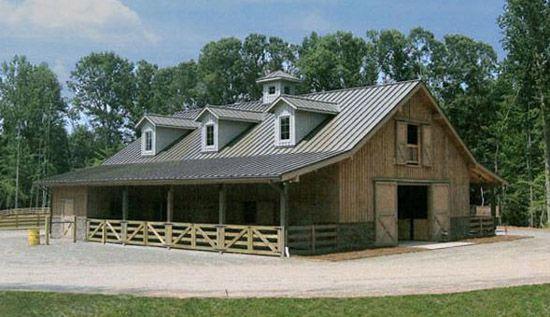 Luxury horse barns joy studio design gallery best design for Luxury barn home plans