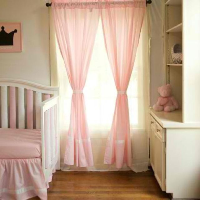 Curtains In The Nursery For Girls Pink Curtains For Girl Nursery Oh Baby Oh Baby Pinterest
