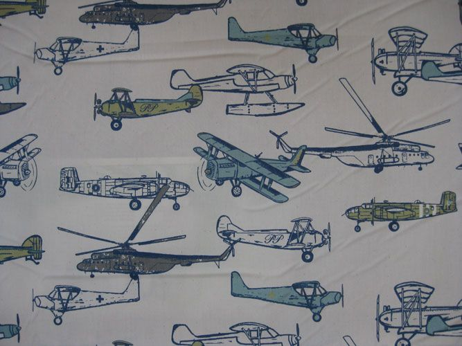 Vintage airplane fabric baby vanark pinterest for Childrens airplane fabric