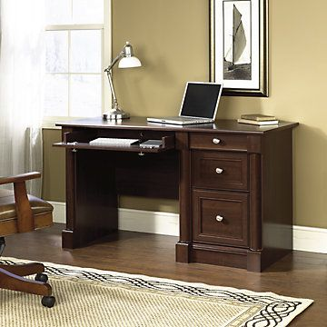 Palladia Computer Desk, SAU-412116, Traditional, Contemporary, Cherry
