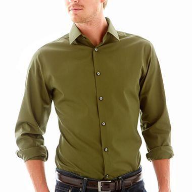 Jf j ferrar 174 slim solid dress shirt jcpenney