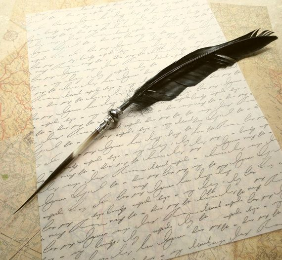 On Sale Free Ship Quill Pen Raven 39 S Wing Ink Dip