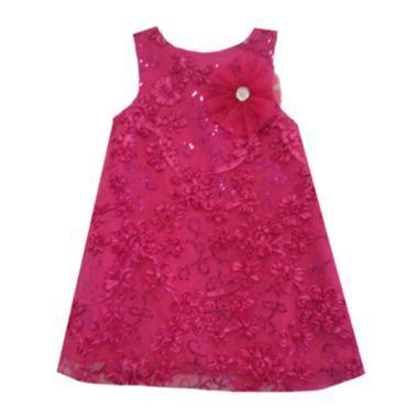 Pink flower girls dress