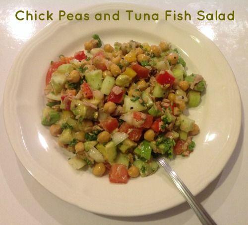 Chick Pea and Tuna Fish Salad | Food | Pinterest