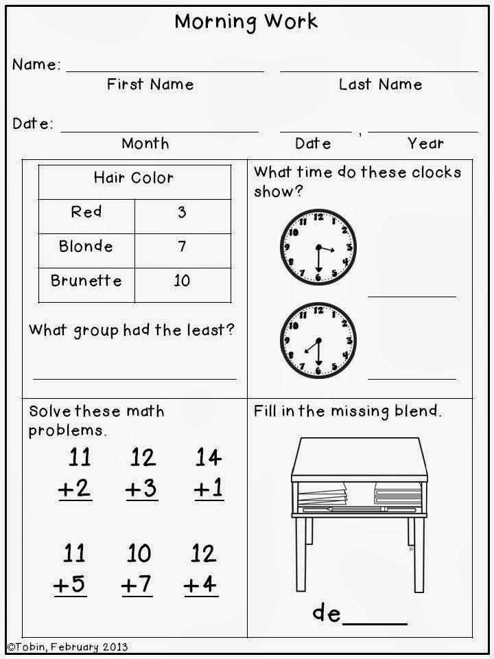 First Grade 3rd Quarter Morning Work | First Grade Friends | Pinterest