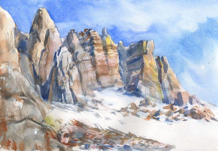 Рисовать камни скалы