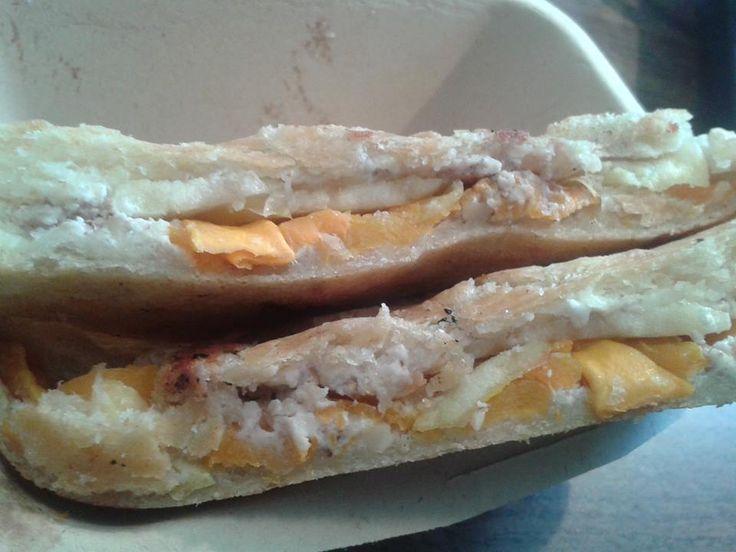 Roasted Butternut Squash, Apple, Goat Cheese & Walnut Spread Panini on ...