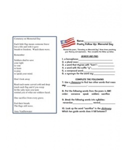 sample memorial day program