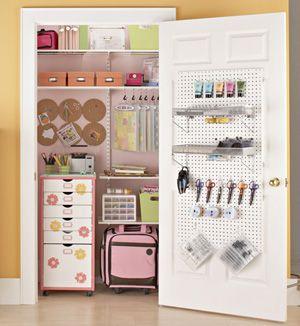 Scrapbook storage in a closet!