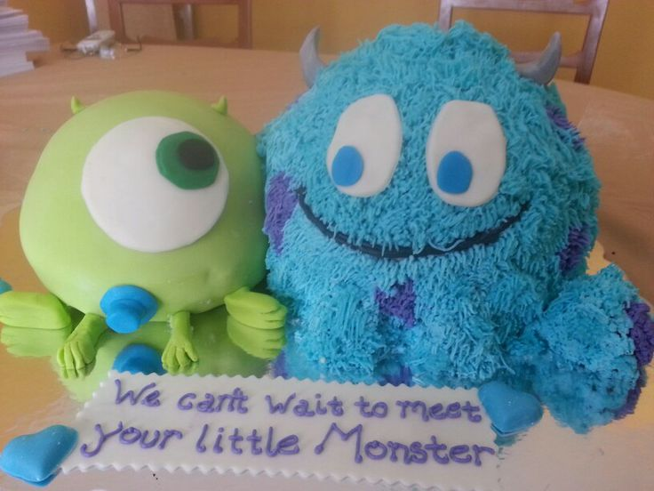 baby monsters baby shower cake cakes pinterest
