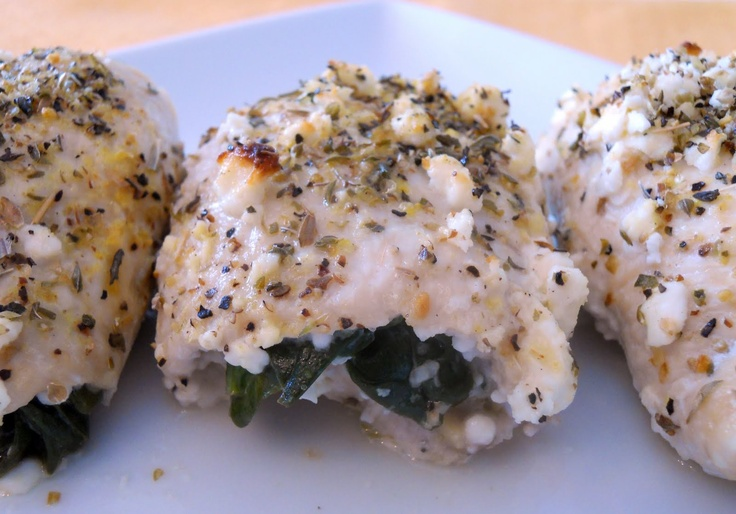 Spinach and Feta Stuffed Chicken Breasts | food | Pinterest