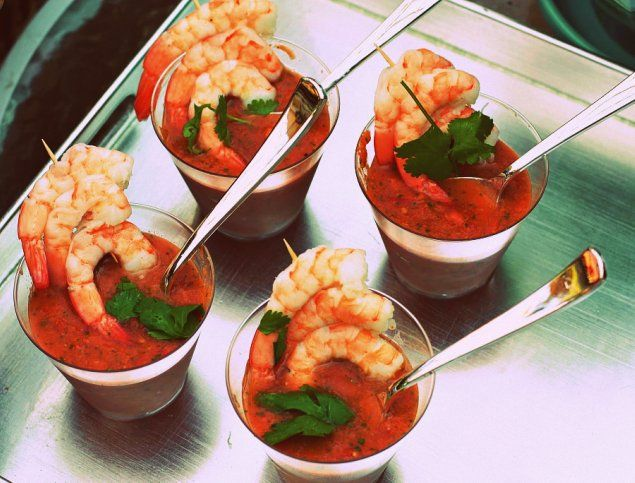 Summer Shrimp Gazpacho | Summer Entertaining | Pinterest